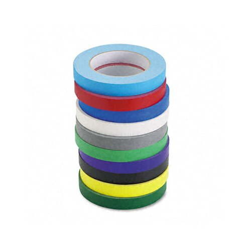 The Chenille Kraft Company Colored Masking Tape Classroom Pack, 8 Rolls/Pack