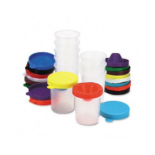 The Chenille Kraft Company No-Spill Paint Cups, 10/Pack