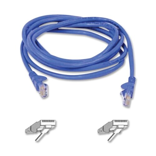Belkin Cat 5E Snagless Ethernet Cable, 3 Feet, Blue or Gray