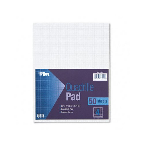 Tops Business Forms Quadrille Pads, 4 Squares / Inch, 50 Sheets / Pad