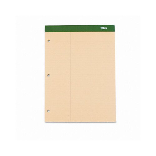 Tops Business Forms Double Docket w/Extra Stiff Back, Law Rule, Letter, 100 Sheets