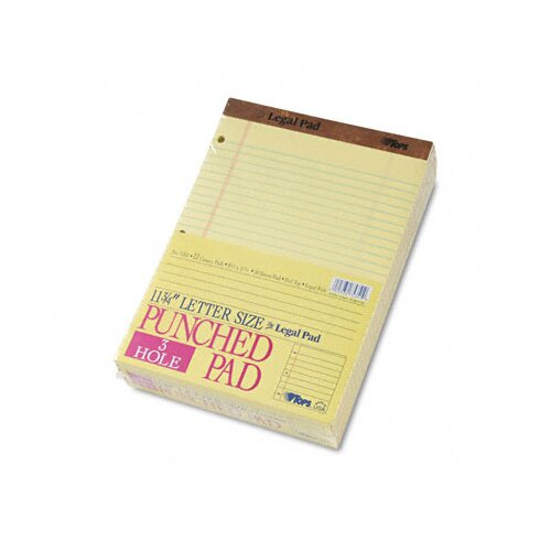 Tops Business Forms The Legal Pad Legal Ruled Perf. Pads, Punched, Letter, 50 Sheet Pads, 12/Pack