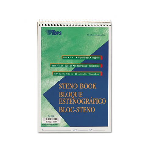 Tops Business Forms Gregg Steno Books, 80-Sheet Pad
