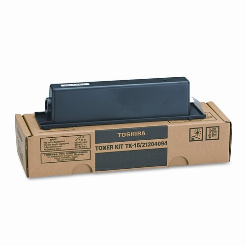 Toshiba TK15 OEM Toner Cartridge, 3800 Page Yield, Black