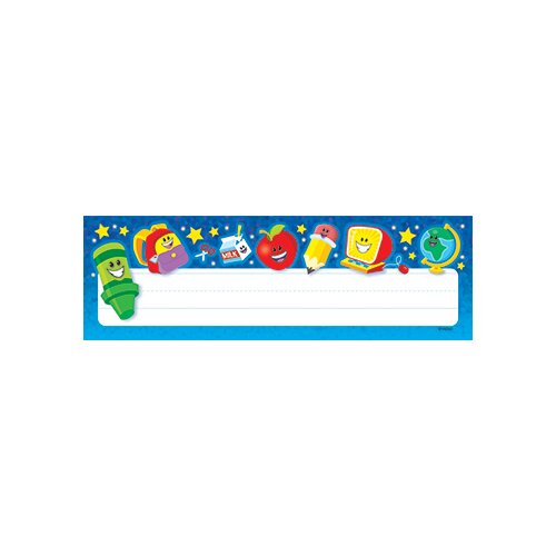 Trend Enterprises Cool School Stuff Name Plates 36/pk