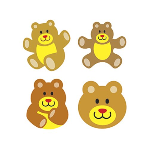 Trend Enterprises Supershapes Stickers Teddy Bears