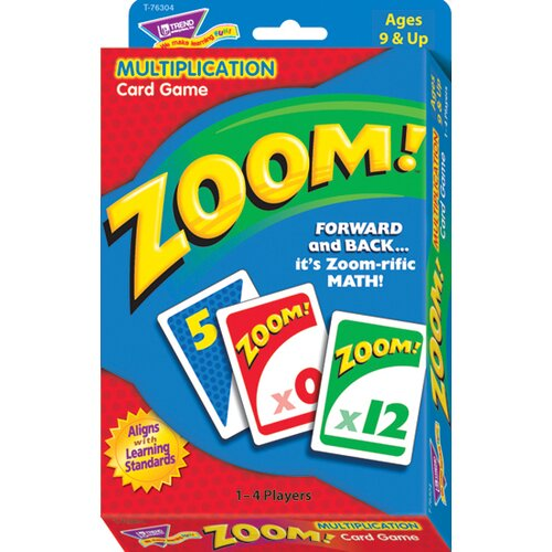 Trend Enterprises Zoom Multiplication Card Game