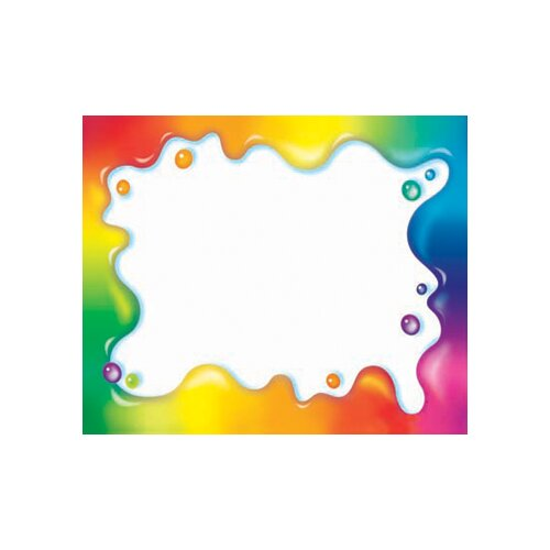 Trend Enterprises Rainbow Gel Name Tags