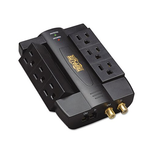 Tripp Lite Direct Plug-In Home/Business Theater Surge Suppressor, 6 Outlets