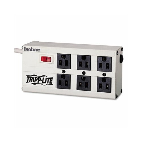 Tripp Lite Isobar Surge Suppressor, 6 Outlets, 6 ft Cord