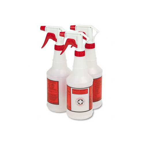 Unisan Plastic Sprayer Bottles, 3 Bottles/Pack