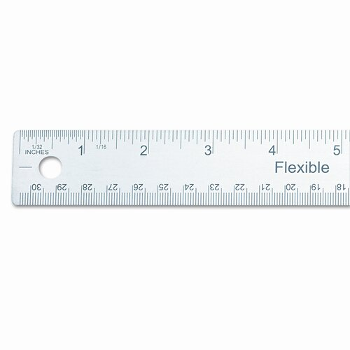 Universal® Stainless Steel Ruler W/Cork Back And Hanging Hole