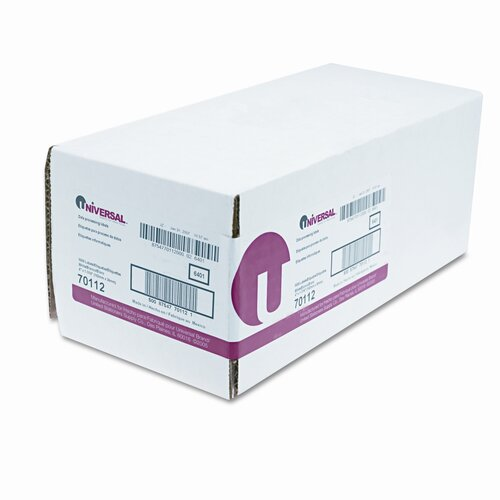 Universal® 1 Across Dot Matrix Printer Labels, 5000/Box