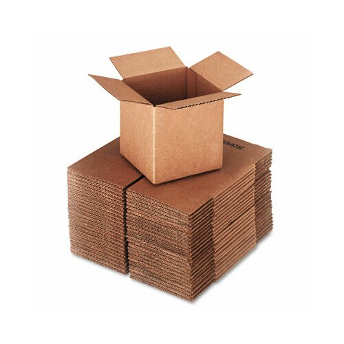 Universal® Corrugated Kraft Fixed-Depth Shipping Carton, 25/Bundle