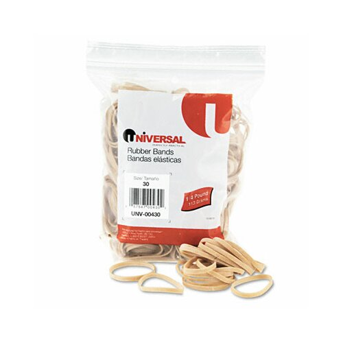 Universal® Rubber Bands, 275 Bands/0.25 lb Pack
