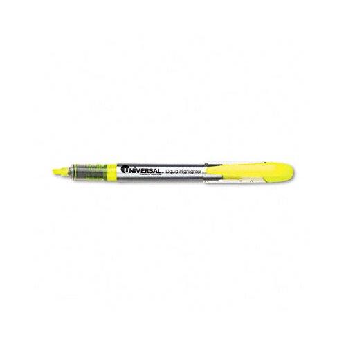 Universal® Liquid Pen Style Highlighter, 12/Pack