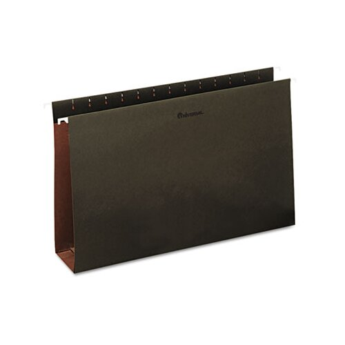 Universal® Three Inch Box Bottom Pressboard Hanging Folders, 25/Box