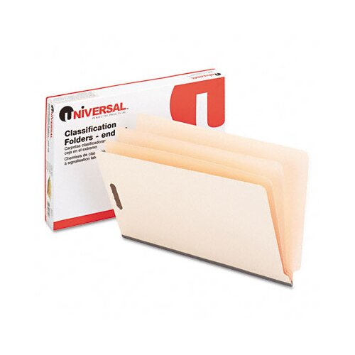Universal® Manila End Tab Folders with Full Cut, 10/Box