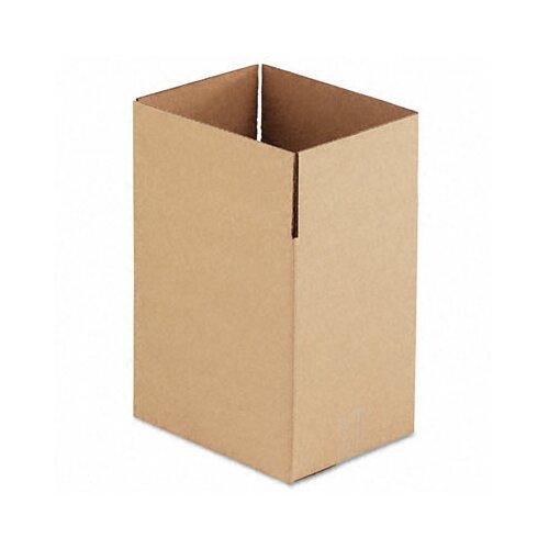 Universal® Corrugated Kraft Fixed-Depth Shipping Carton,25/Bundle