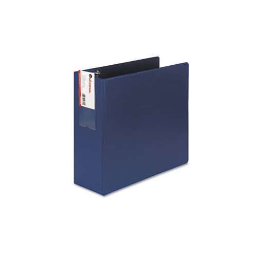 Universal® D-Ring Binder w/Label Holder, 4in Capacity
