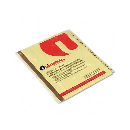 Universal® Preprinted Plastic-Coated Tab Dividers, 25/Set