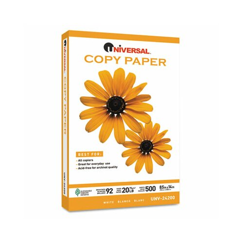 Universal® Copy Paper, 20 lbs, 5000 Sheets/Carton