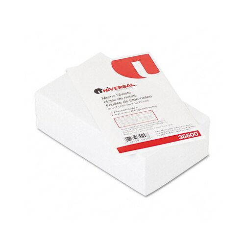 Universal® Loose Memo Sheets, 500 Sheets/Pack