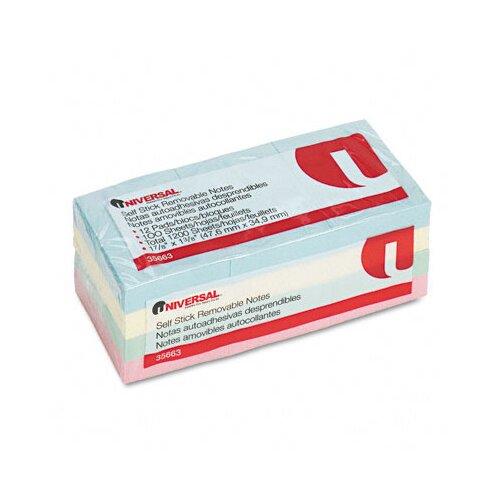 Universal® Self-Stick Notes, 12 100-Sheet Pads/Pack