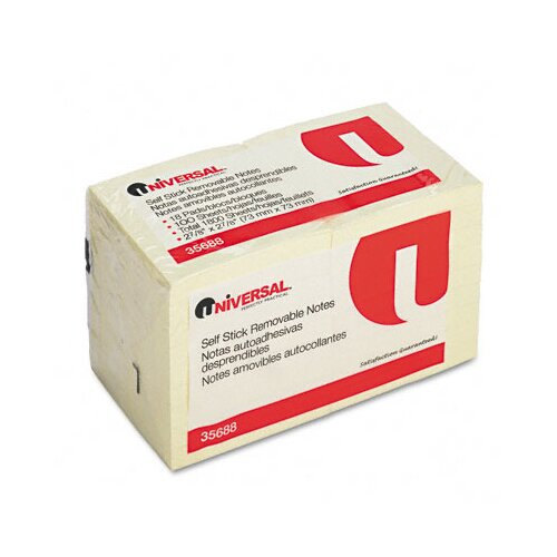 Universal® Standard Self-Stick Notes, 18 100-Sheet Pads/Pack