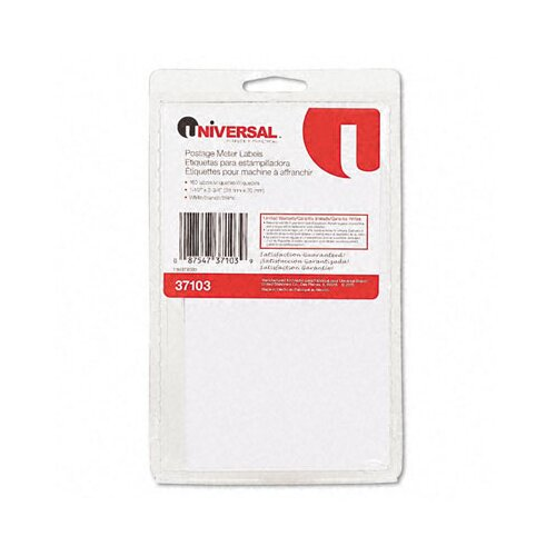 Universal® Self-Adhesive Postage Meter Labels, 160-Sheet/Pack