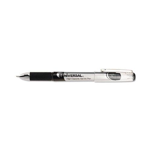 Universal® High Capacity Roller Ball Stick Gel Pen, 12/Pack