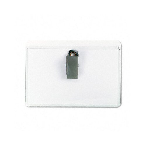 Universal® Clear Badge Holders W/Inserts, 50/Box