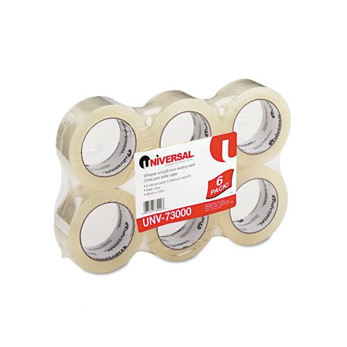 Universal® Quiet Carton Sealing Tape, 6/Box