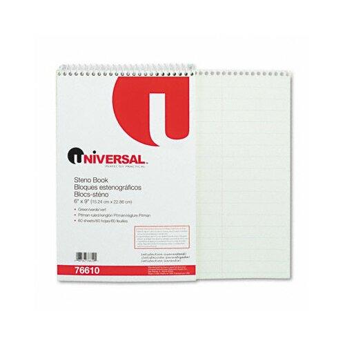Universal® Steno Book, 60 Sheets/Pad