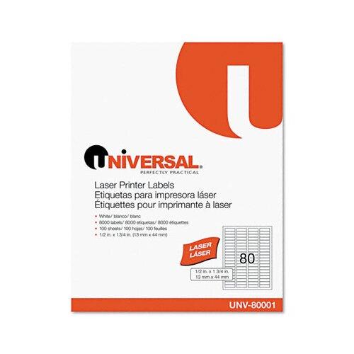 Universal® Laser Printer Permanent Labels, 8000/Box