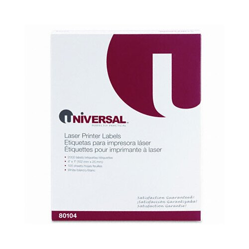Universal® Laser Printer Permanent Labels, 2000/Box