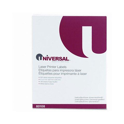 Universal® Laser Printer Permanent Labels, 600/Box