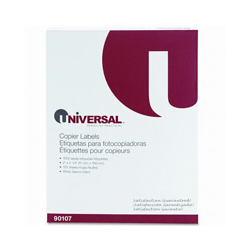 Universal® Shipping Labels for Copiers, 1000/Box