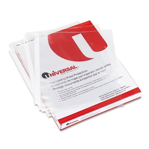 Universal® Top-Load Poly Sheet Protectors Economy Letter, 200/Box