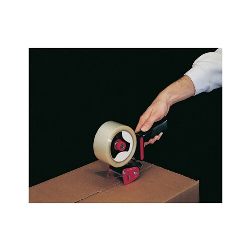 Universal® Handheld Box Sealing Tape Dispenser in Black and Red