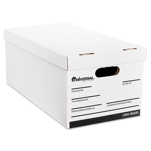 Universal® Lift-Off Lid File Storage Box, 4/Carton
