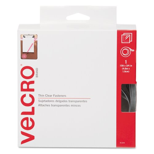 VELCRO USA Inc Sticky-Back Hook and Loop Fastener Roll, 15""