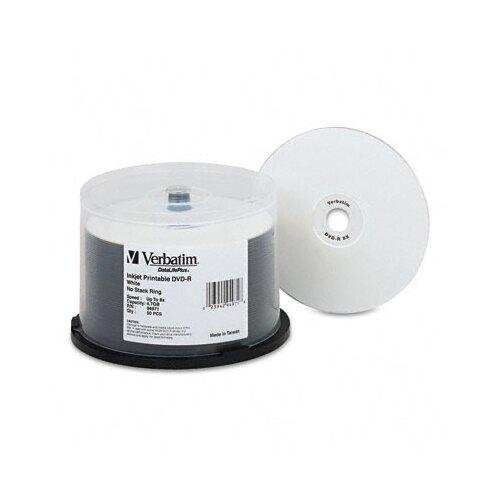 Verbatim Corporation 94971 Inkjet Printable Spindle Dvd-R Discs, 4.7Gb, 8X, 50/Pack