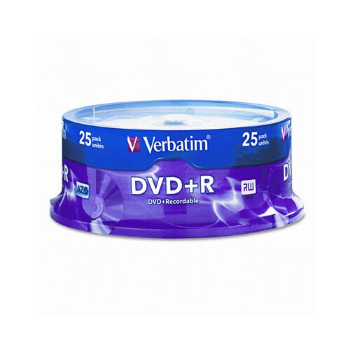 Verbatim Corporation Spindle Dvd+R Discs, 4.7Gb, 16X, 25/Pack