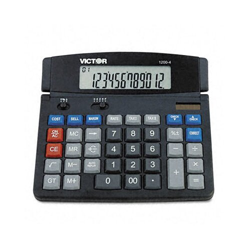 Victor Technology Business Desktop Calculator, 12-Digit Lcd