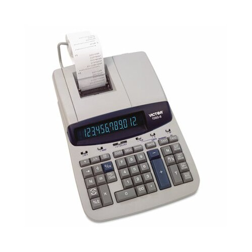 Victor Technology Ribbon Printing Calculator, 12-Digit Fluorescent