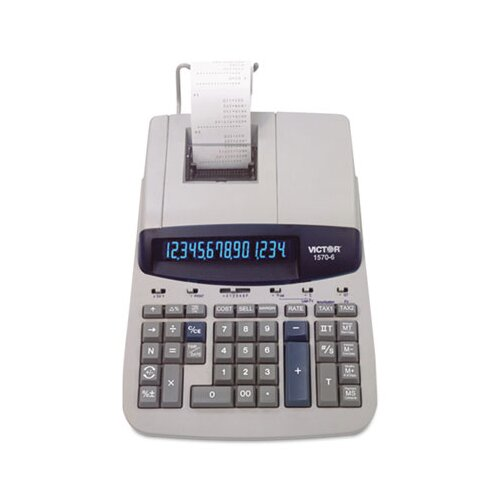 Victor Technology Ribbon Printing Calculator, 14-Digit Fluorescent