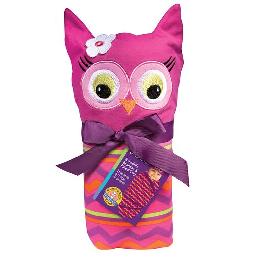 Owl Swaddle Blanket and Cap Set
