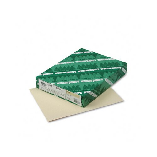 Wausau Papers Exact Index Card Stock, 90 Lbs., 8-1/2 X 11, 250 Sheets/Pack
