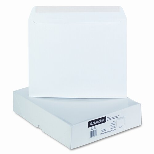 Westvaco Quality Park Open Side Booklet Envelope, 13 X 10, 100/Box